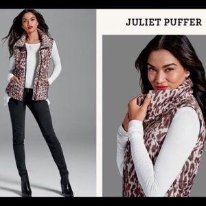 CAbi Juliet Leopard Print Puffer Vest